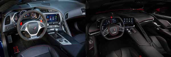 2019 vs. 2020 Chevrolet Corvette interior