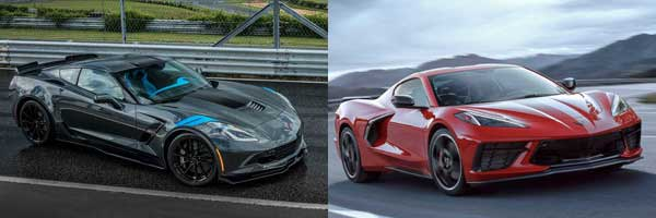 2019 vs. 2020 Chevrolet Corvette technology