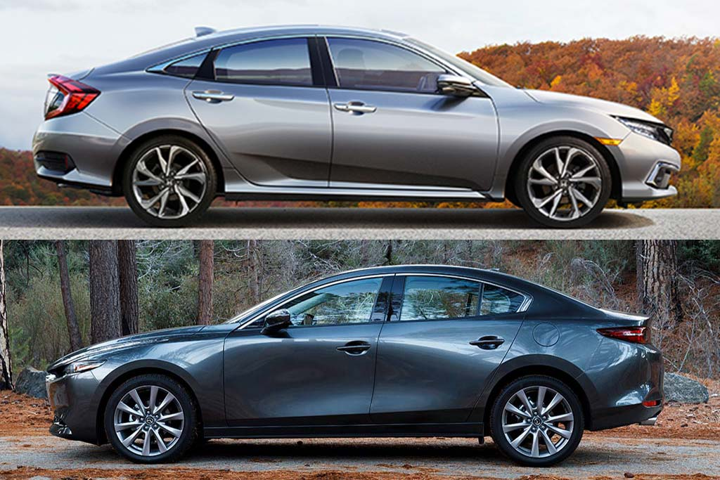 2020 Honda Civic vs. 2020 Mazda3: Which Is Better? featured image large thumb0