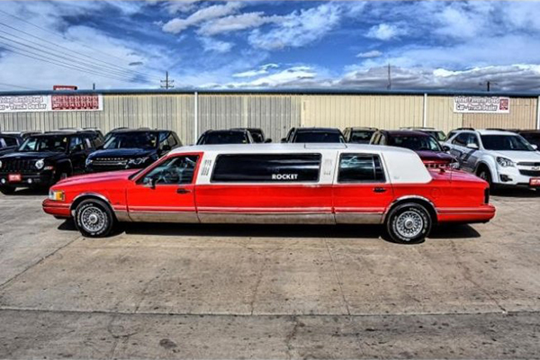 Autotrader Find Bright Red 1994 Lincoln Town Car Limo Autotrader