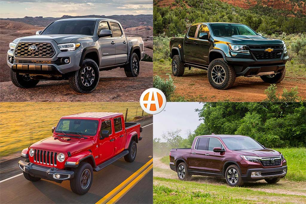 IIHS Top Safety Pick-Rated Midsize Pickups for 2020 featured image large thumb0