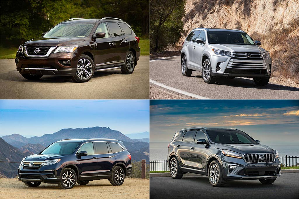IIHS Top Safety Pick-Rated Midsize Family SUVs for 2019 featured image large thumb0